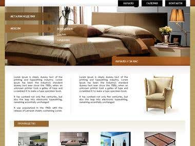 Website design for home interior company