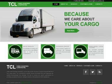 Three Countries Logistics : Custom (PHP/MySql) CMS