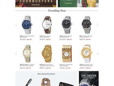 JomaShop: eCommerce Store for Watches