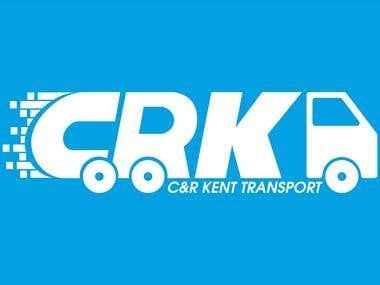 Simple and elegant logo designed for C&R Kent Transport