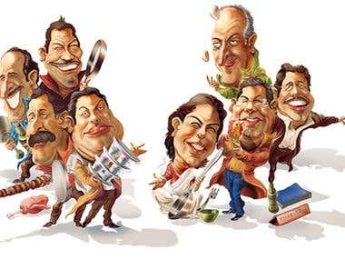 Caricature-Cartoons