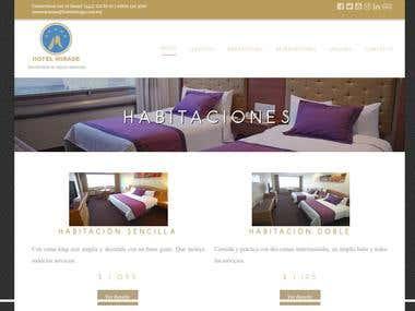 Pagina de Hotel