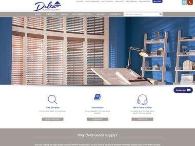 Delta Blinds Supply : Informative eCommerce Website