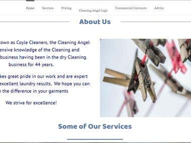 Cleaning Angel Website