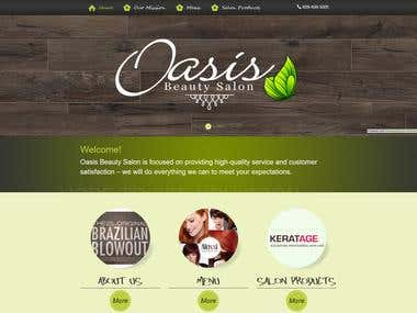 Oasis Beauty Salon : Service Industry Website
