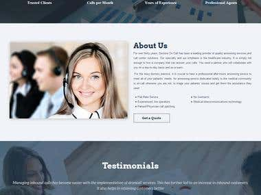 Doctors On Call : Custom CMS Website
