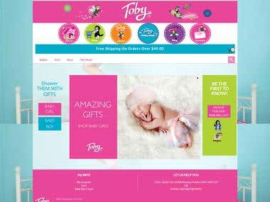 Toby Enterprises: Baby eCommerce Shop