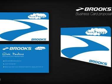 Brook Business card designs