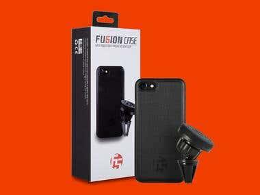 Phone case w/ clip
