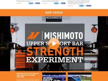 mishimoto E commerce website