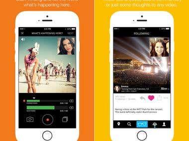 photo/video sharing app