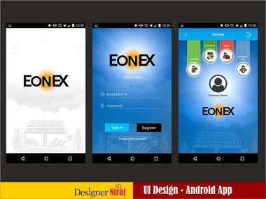 Eonex Android App - UI Design