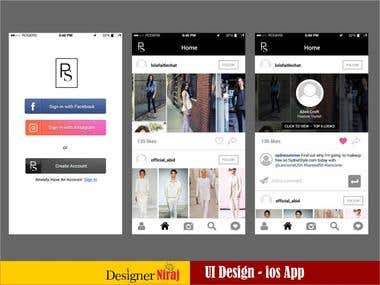 Post Script Fashion ios app -UI/UX