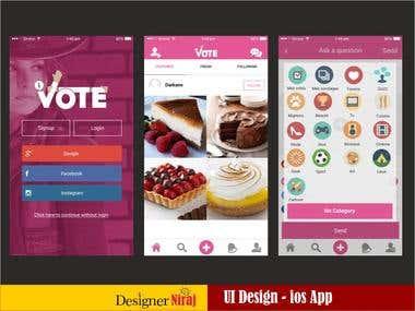 ivote ios app - UI/UX