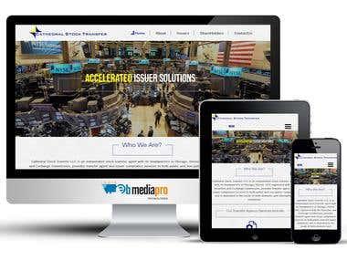 Website For a Stock Transfer Agent (WordPress)
