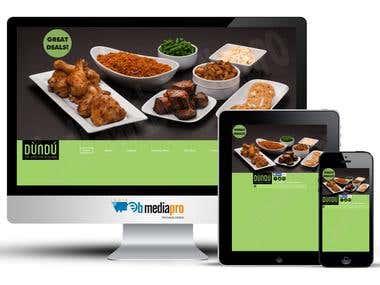 Website for an African Restaurant (WordPress)