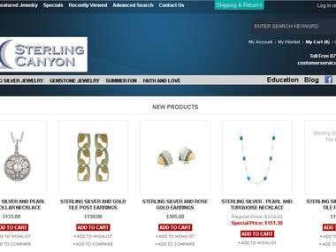 Magento Jewelry Commerce site