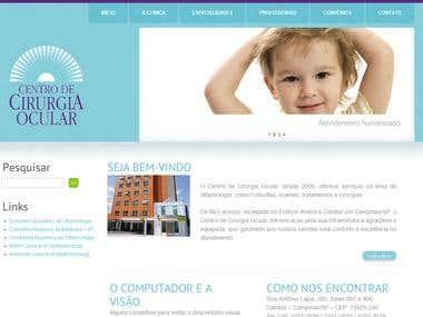 Web Site Building to Centro de Cirurgia Ocular de Campinas