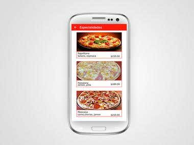 Design an App to order pizza