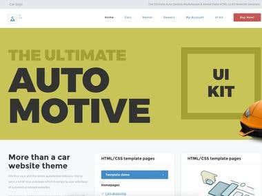 Car UI Kit - HTML/CSS