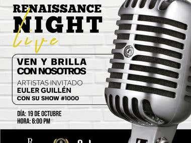Arte para RRSS - Renaissance Night Live