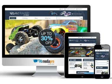 Online Store for Racing Products (Shopify)