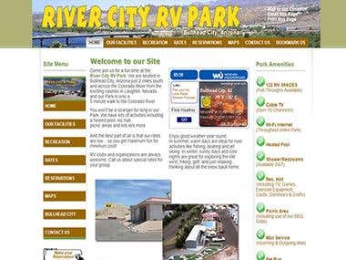 River City-RV Park | WordPress Project