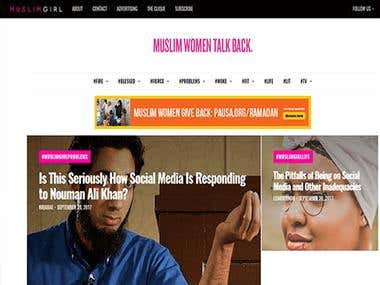 Muslim Girl| WordPress Project
