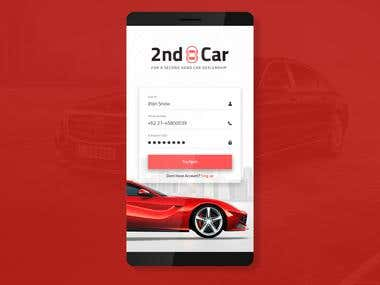 2nd Hand Car Selling App UI Design