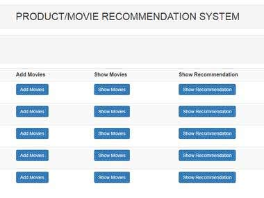 PRODUCT/ MOVIE RECOMMENDATION ENGINE