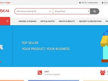 India best deals- listing website-seller panel