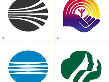 different logos created