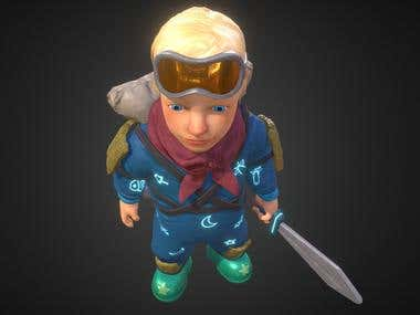 Space Kid 3D Model/Concepts