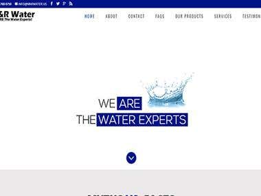 M & R Water | WordPress Project