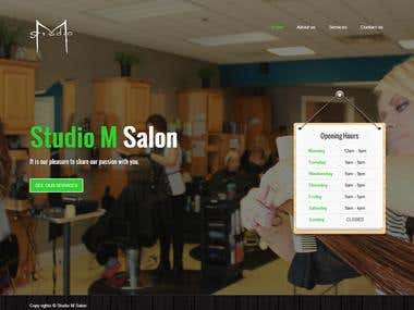 Studio M Salon and Spa Website