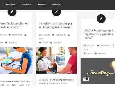 Artículos para blog de branding y publicidad