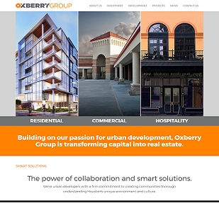 Real Estate website development(http://www.oxberrygroup.com)