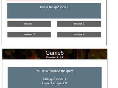 SPFX Quiz webpart