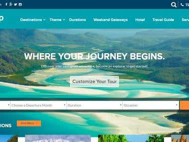 Tour and travel website