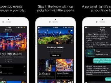 Night Life iOS app