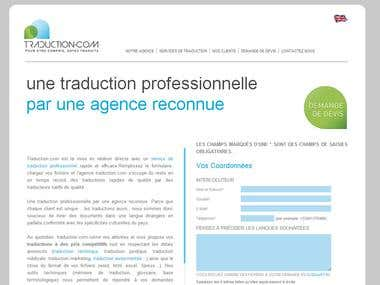 Traduction Website