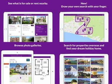 Real Estate Search iPad app