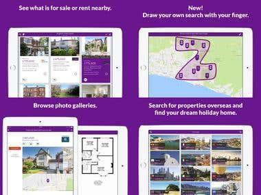 Real Estate Search iPad app