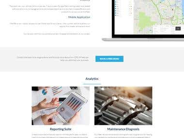 Making the website for Telematics company GPS InFleets