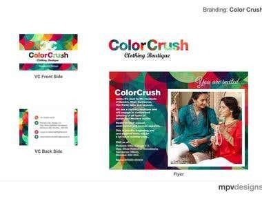 Colour Crush Logo and branding