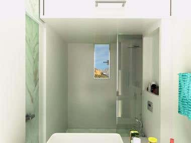 bathroom 3d modeling and rendering in 3ds max