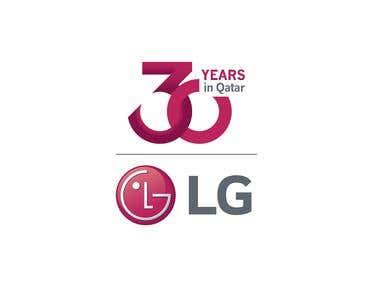 30 Years Logo designed for LG Qatar
