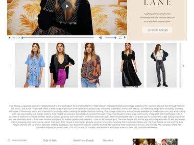 eCommerce website freepeople.com