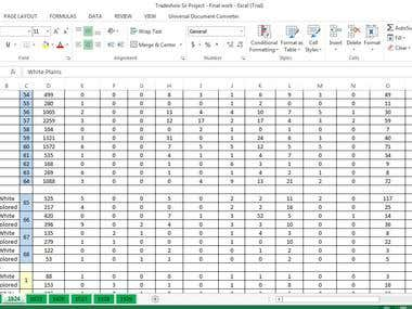 Type numerical data into excel from Pdf