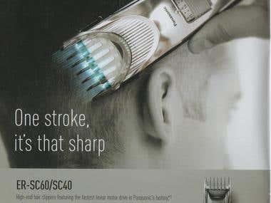 Panasonic Shaver Commercial photo by Kaori Suzuki